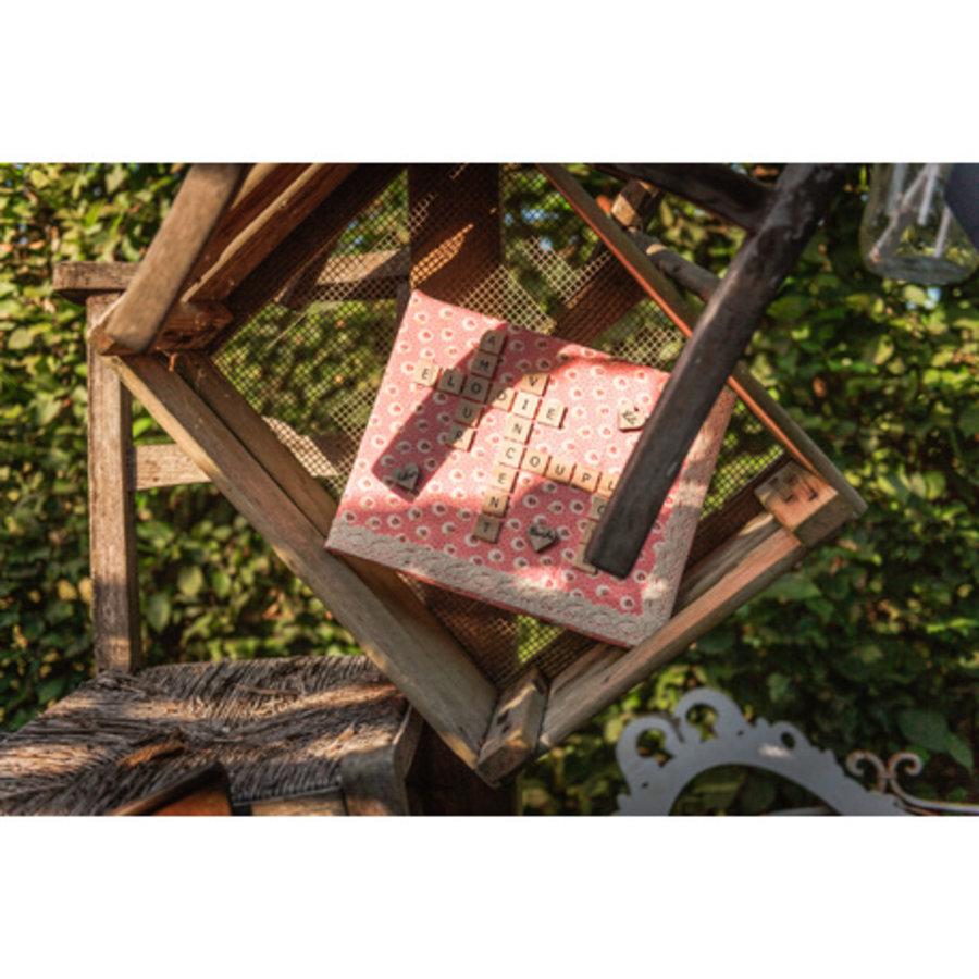 Lettre alphabet facon scrabble 2x2 cm-4