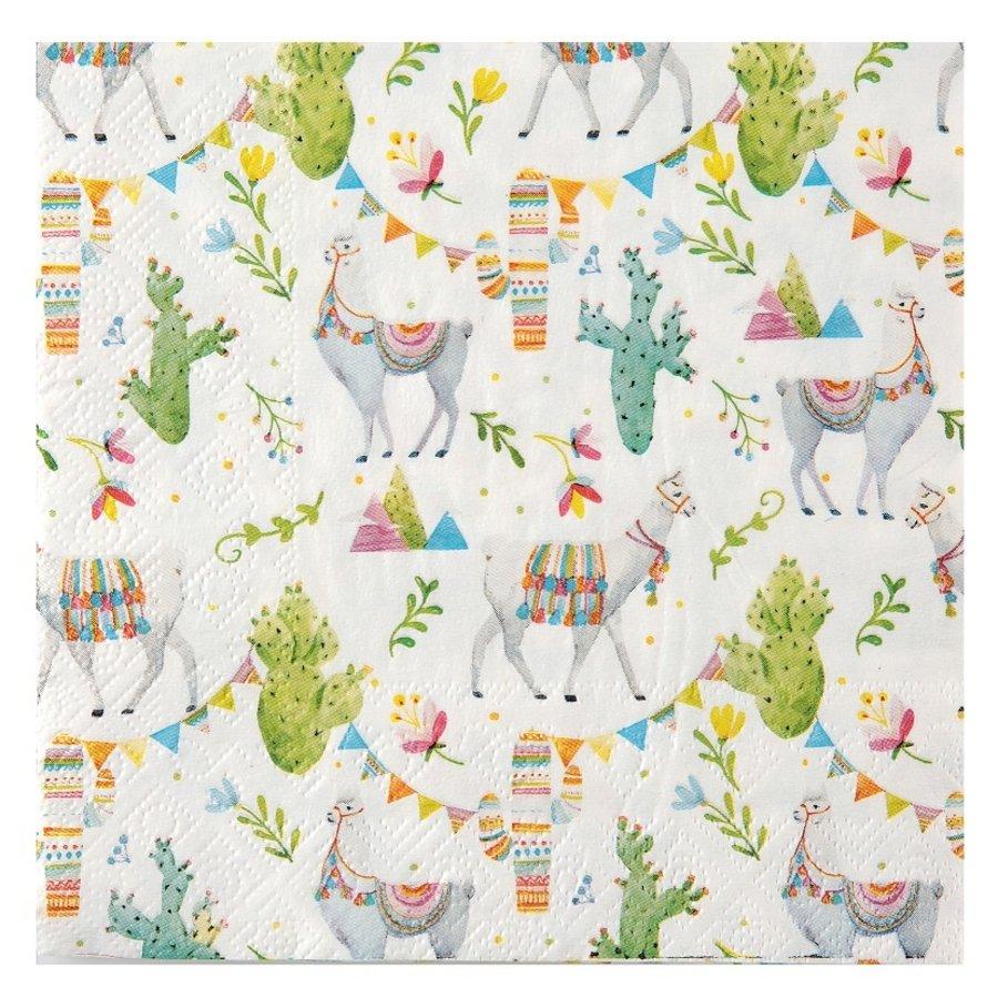 Serviette en papier lama (20 pcs)-1