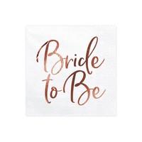 thumb-Servet Bride to be rose (20 stuks)-1