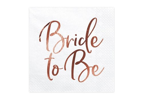 Servet Bride to be rose (20 stuks)