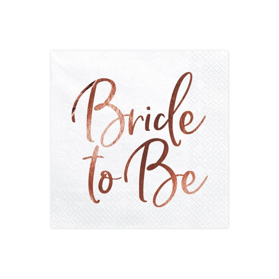 Servet Bride to be rose (20 stuks)-1