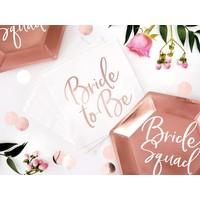thumb-Servet Bride to be rose (20 stuks)-3