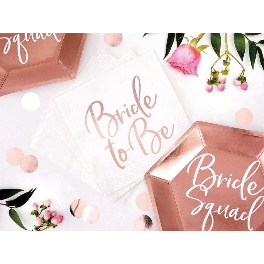 Servet Bride to be rose (20 stuks)-3