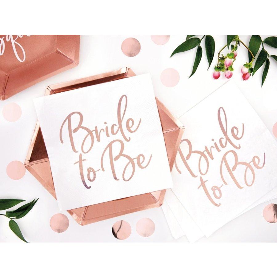 Servet Bride to be rose (20 stuks)-4