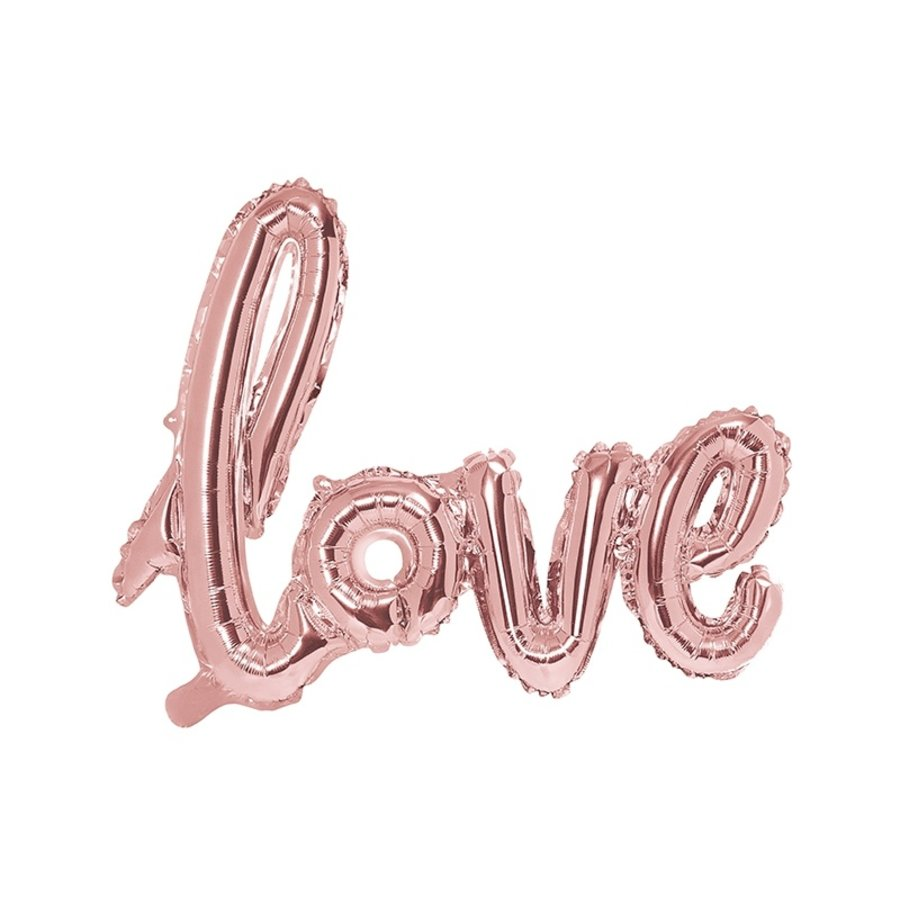 Folieballon rose love-1