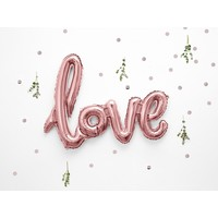 thumb-Folieballon rose love-2
