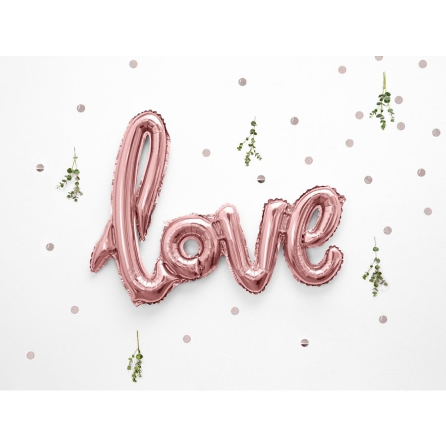 Folieballon rose love-2