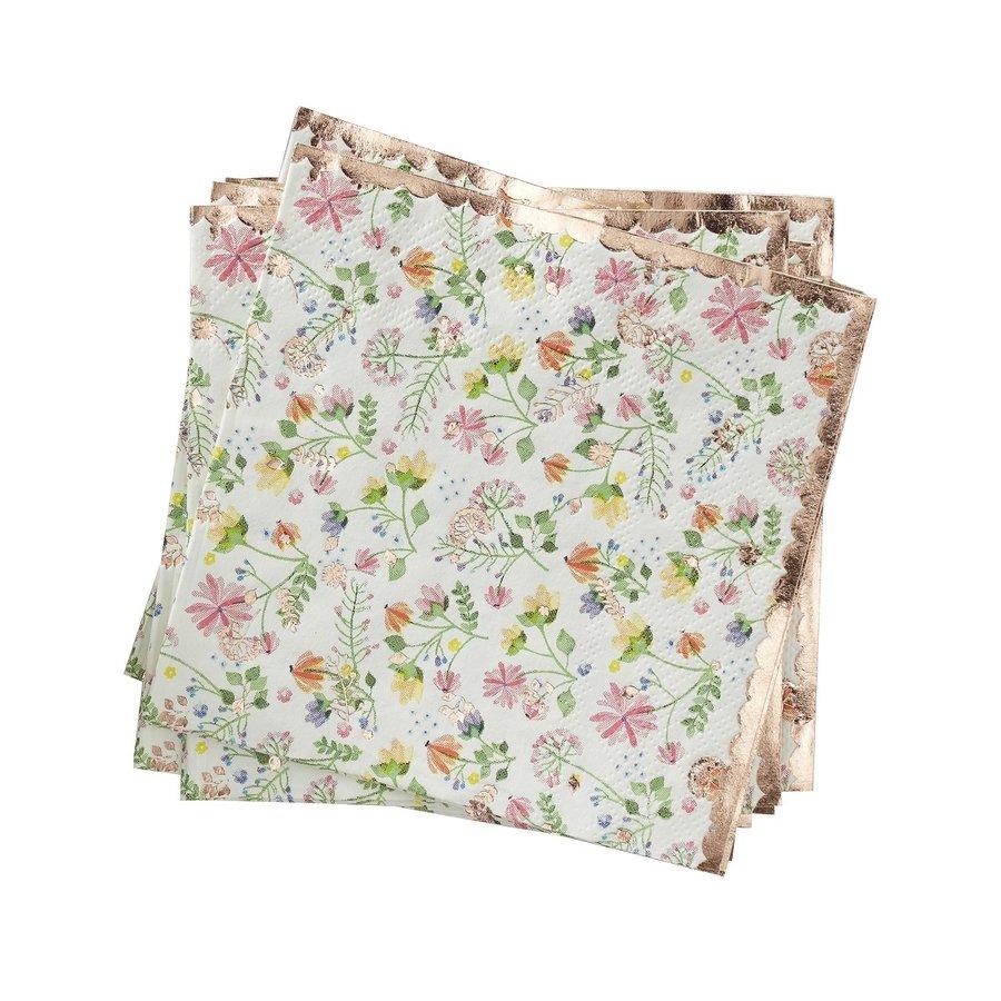 Serviette en papier rose-1