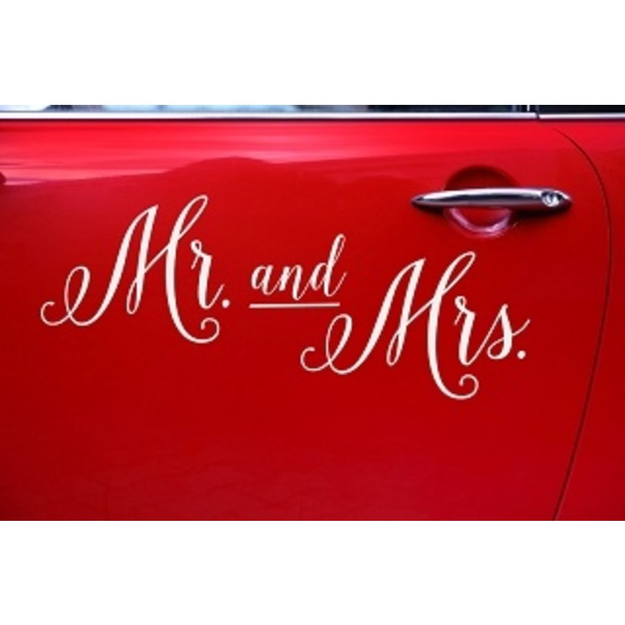 Autosticker Mr and Mrs-2