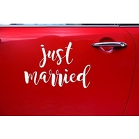 thumb-Autocollant Just Married-2