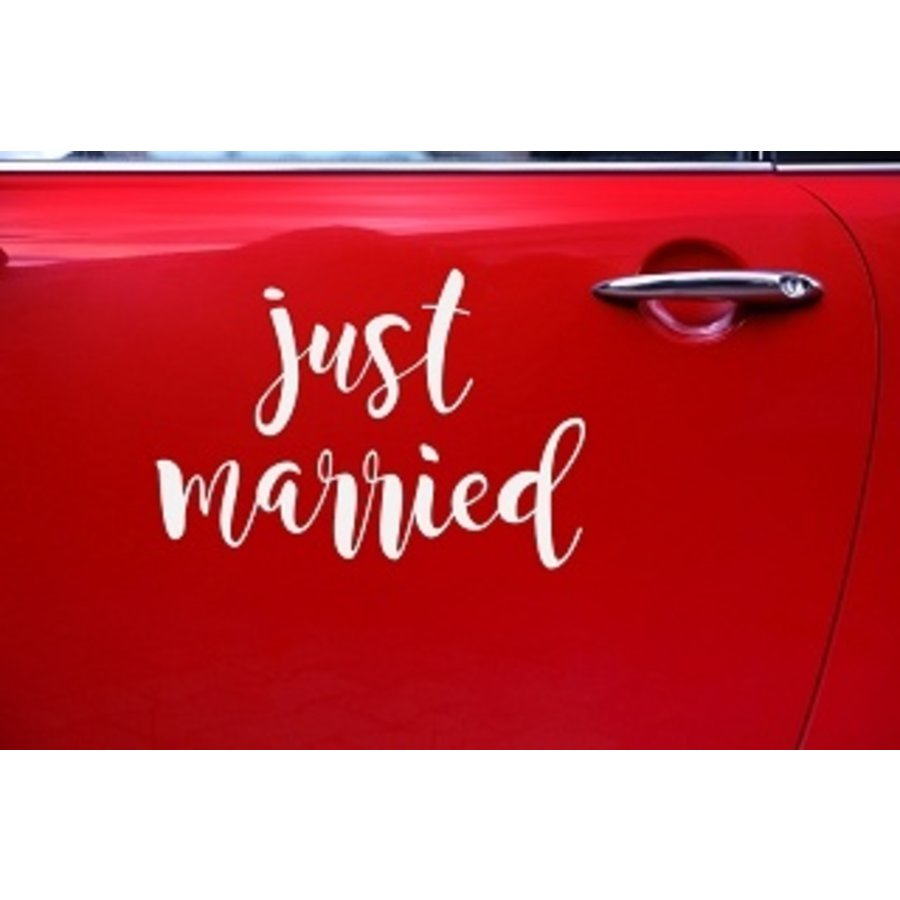 Autocollant Just Married-2