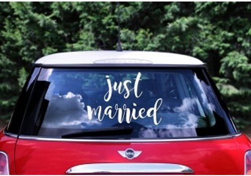 Autocollant Just Married