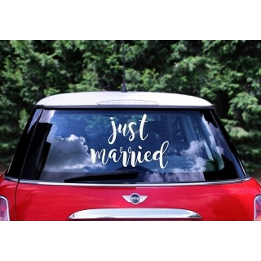 Autocollant Just Married-1