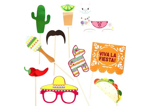 Kit photobooth mexicano 10 pieces