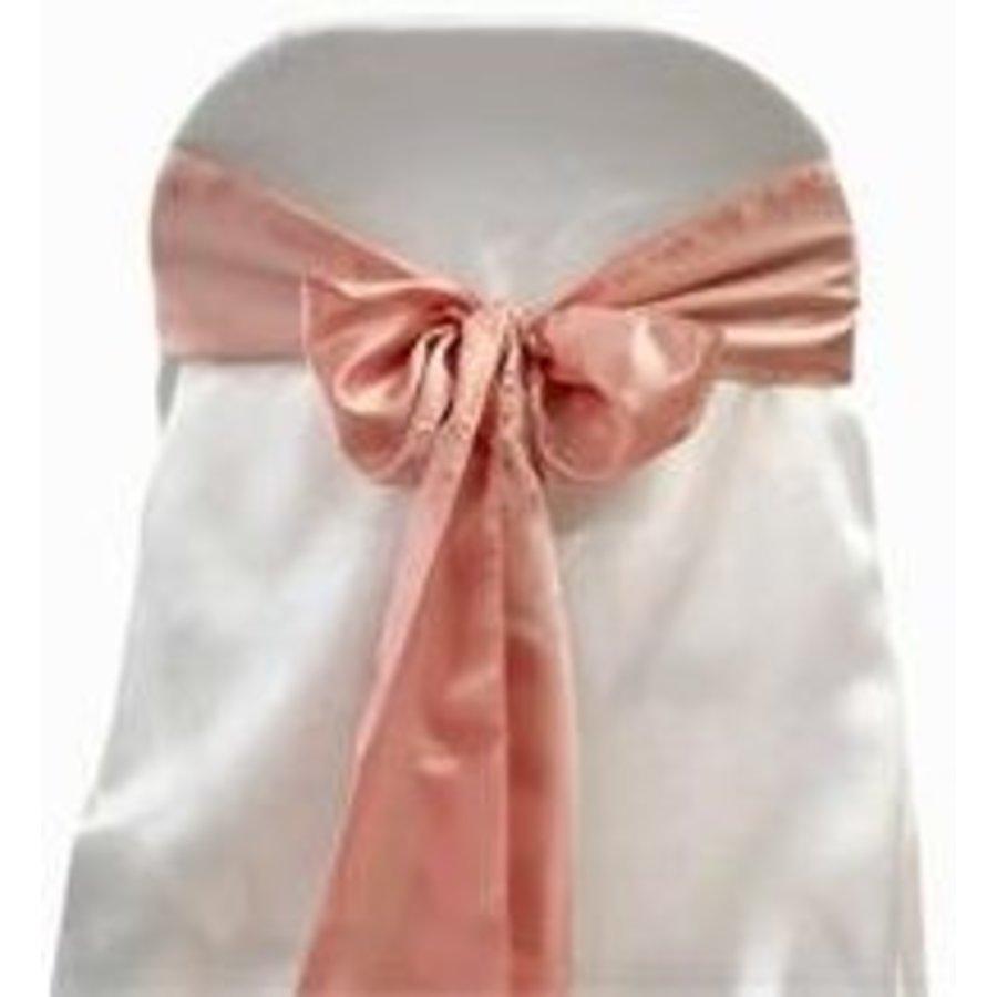 Oud roze satijnen stoelstrik (verhuur)-1