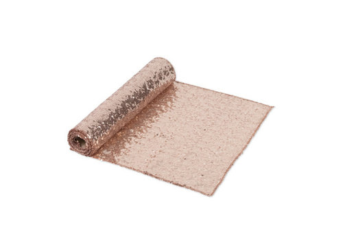 Chemin de table  sequins rose gold 30 x 250 cm