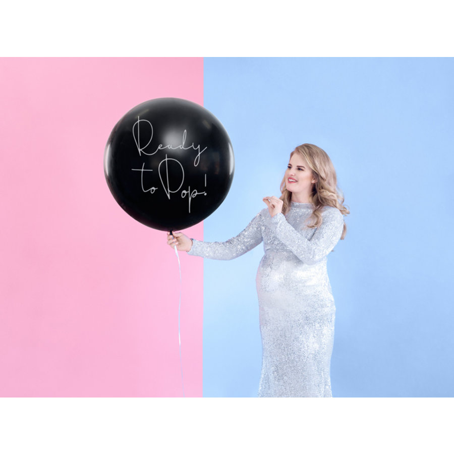 Ballon gender reveal blauw-4
