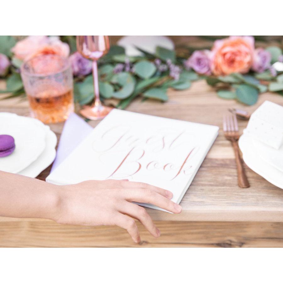 Gastenboek wit rose-5