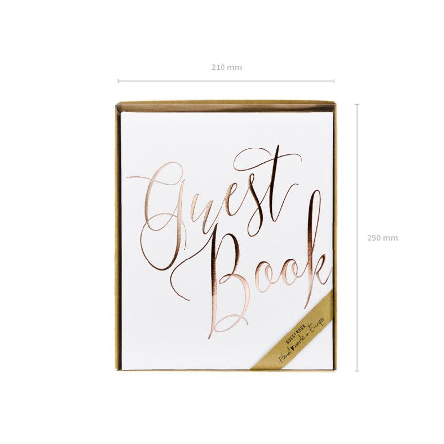 Gastenboek wit rose-6