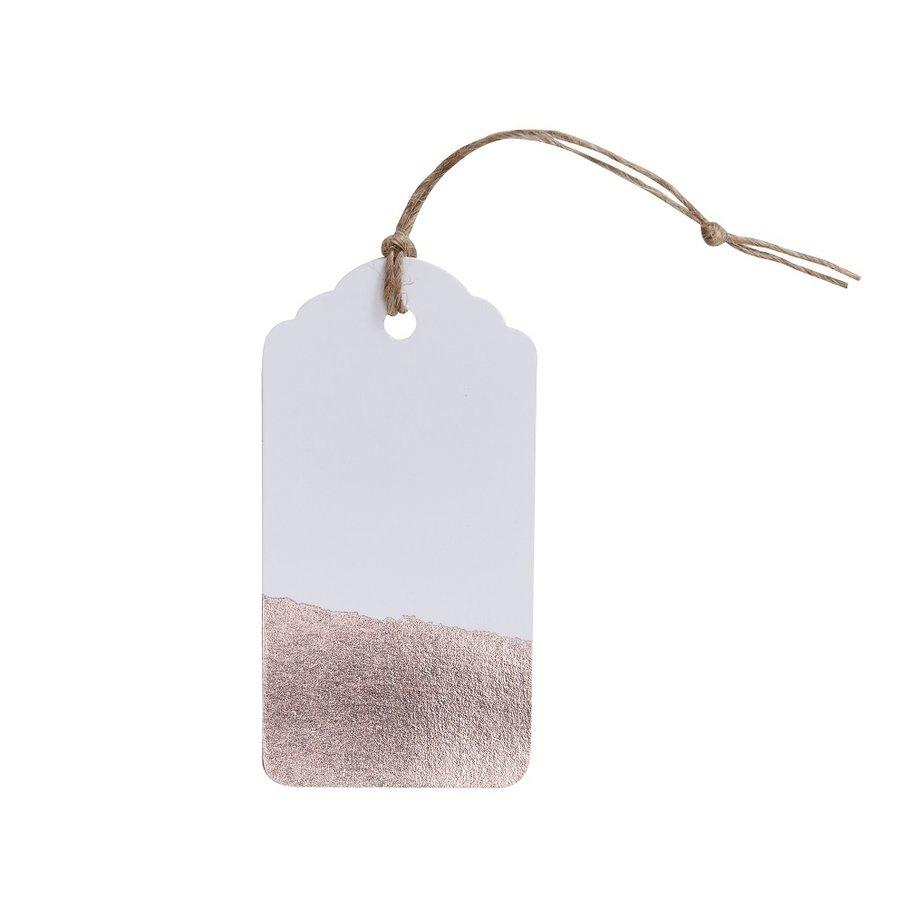 Naamkaartje label rose goud (10 stuks)-1