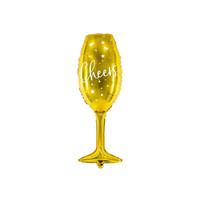 thumb-Folieballon champagneglas goud Cheers-1