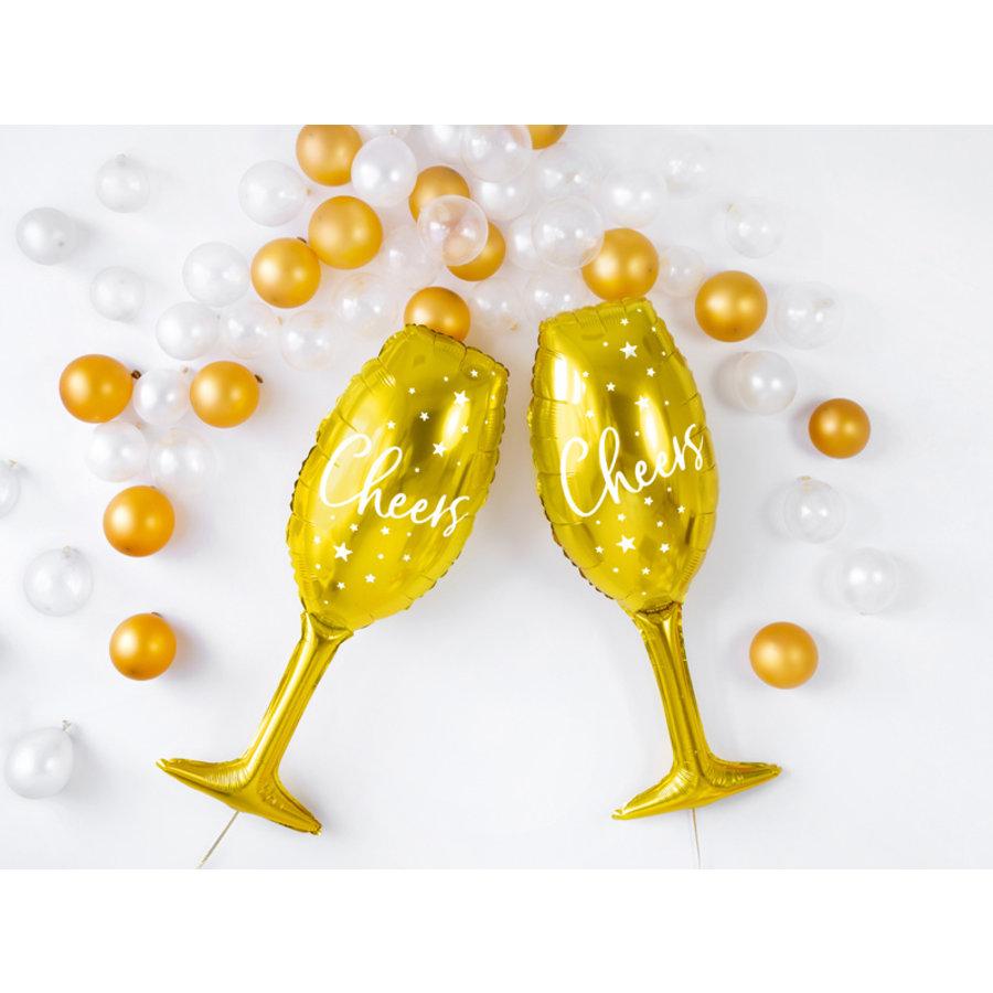 Folieballon champagneglas goud Cheers-2
