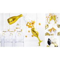 thumb-Folieballon champagnefles goud Happy New Year-3