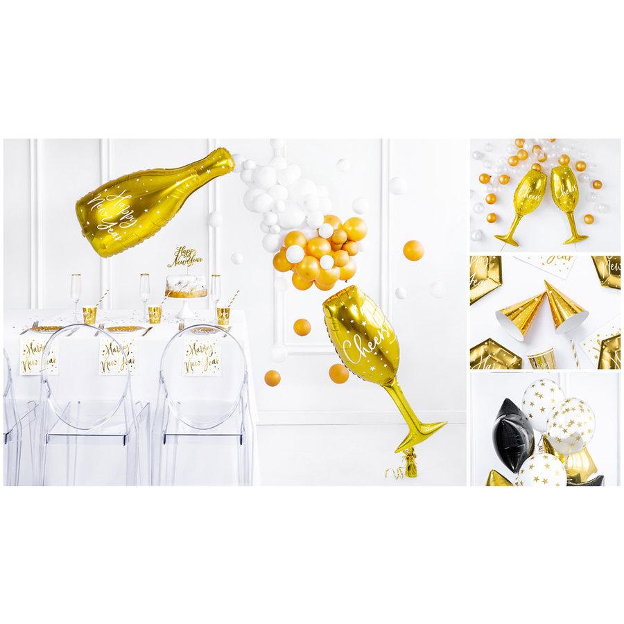 Bouteille à champagne en aluminium ballon  82cm-3