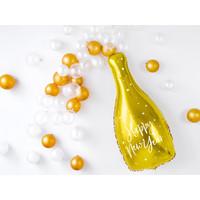 thumb-Folieballon champagnefles goud Happy New Year-2