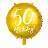 Perfect Decorations Folieballon goud 50th Birthday