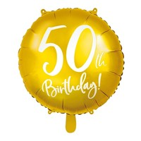 Folieballon goud 50th Birthday