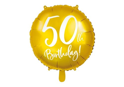 Folieballon goud 50th Birthday