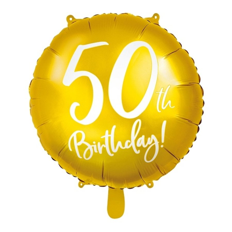 Ballon en aluminium or 50th Birthday-1