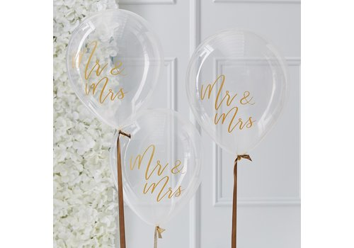 Ballon Mr en Mrs (5 stuks)