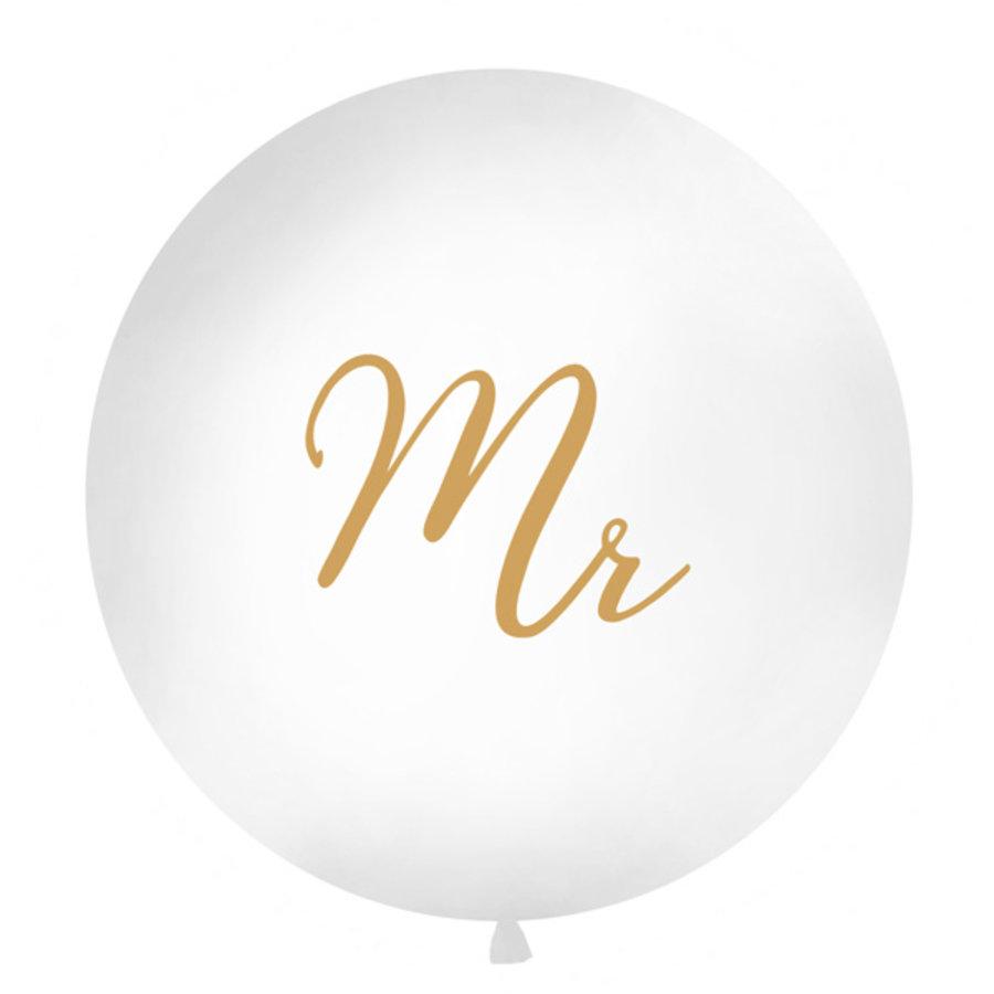 Jumbo ballon Mr & Mrs-1