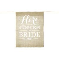 thumb-Vaandel Here comes the bride!-1