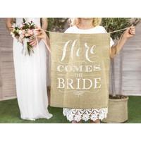 thumb-Vaandel Here comes the bride!-3