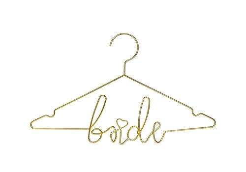 Kledinghanger bride goud