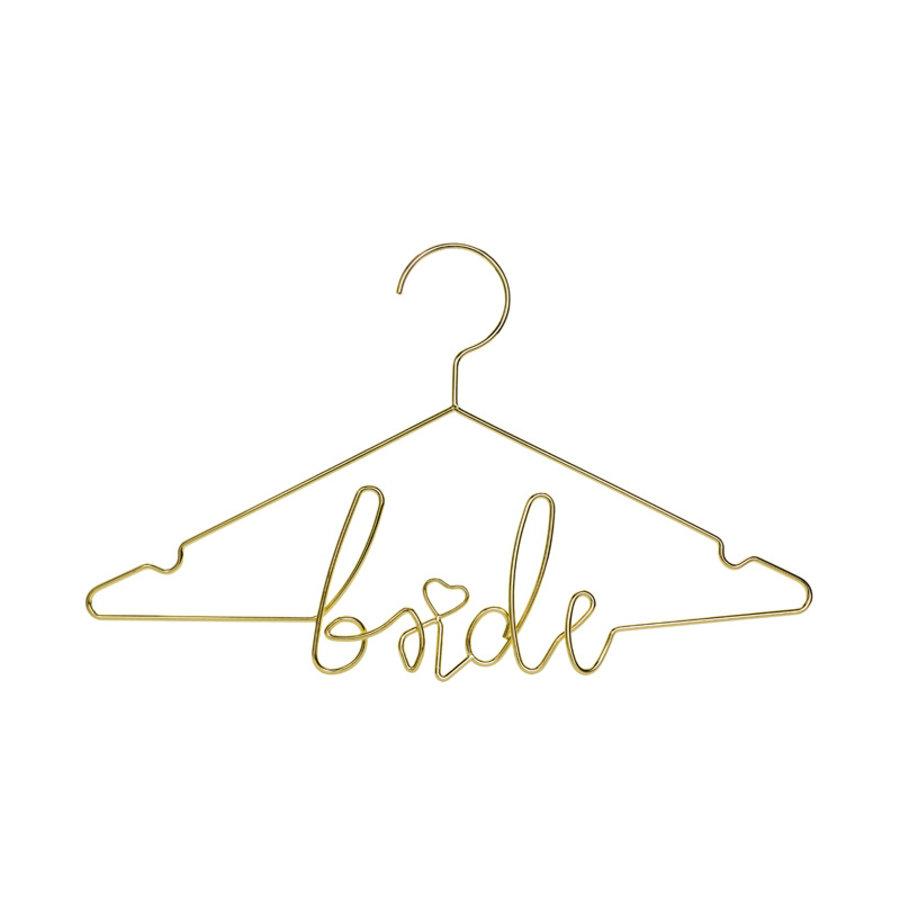 Kledinghanger bride goud-1