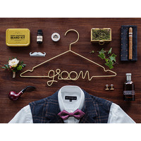 thumb-Cintre Groom d'or-2