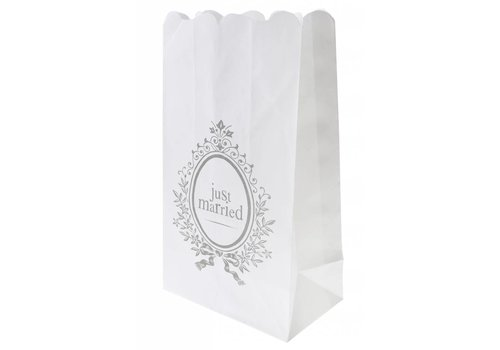 Candle Bag wit (6 stuks)