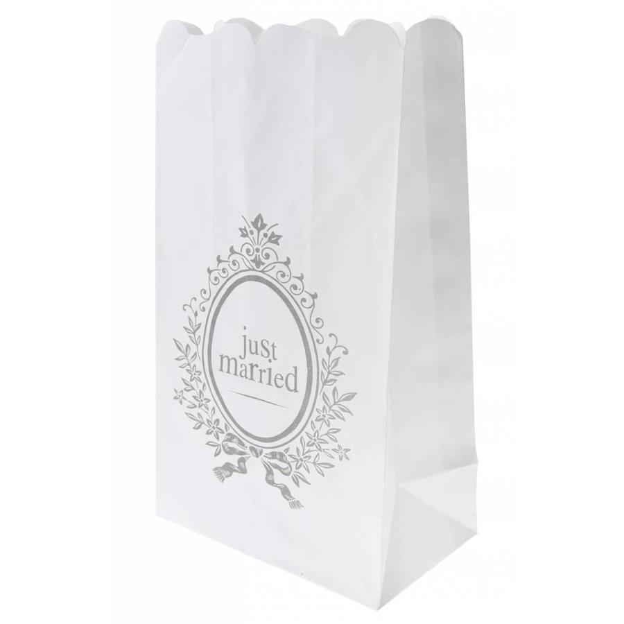 Candle Bag wit (6 stuks)-1