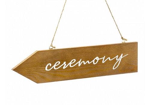 Plaque de cérémonie en bois 36 x 7,5cm