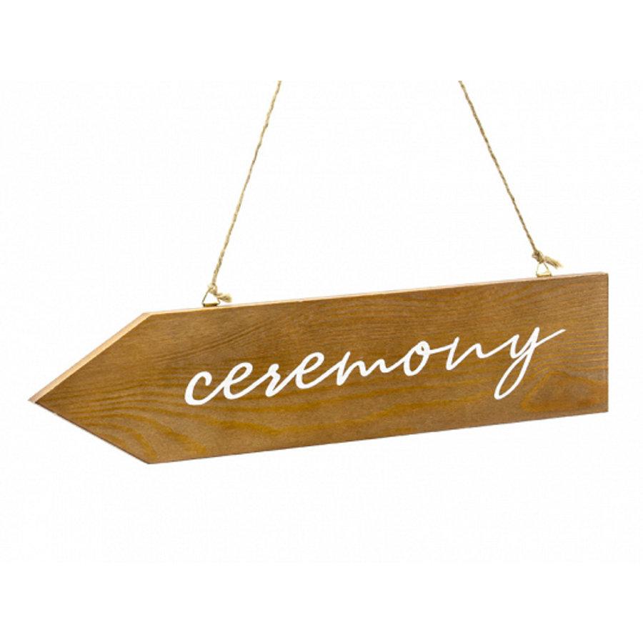 Plaque de cérémonie en bois 36 x 7,5cm-1