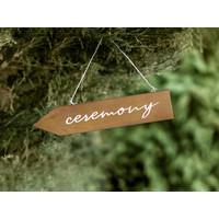 thumb-Plaque de cérémonie en bois 36 x 7,5cm-2