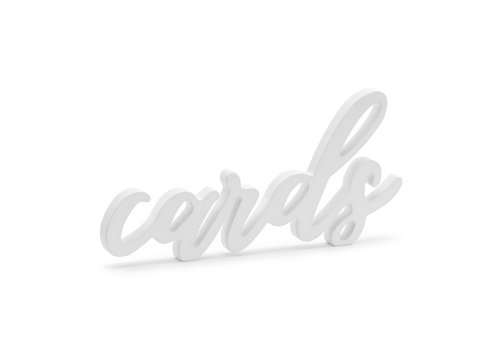 Cartes déco lettrage blanc 20 x 10cm