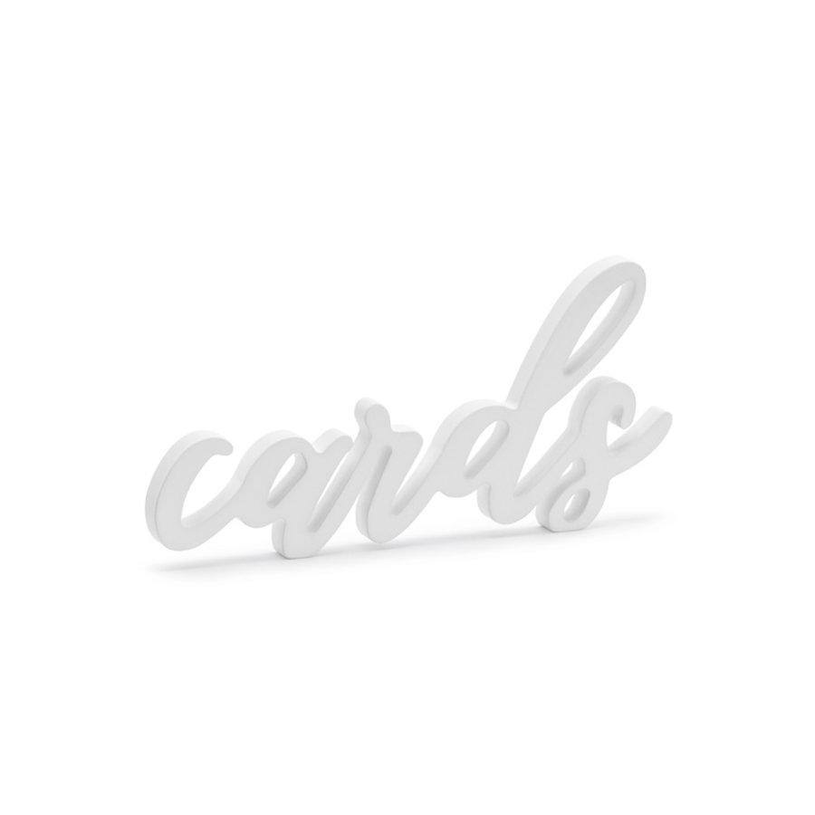 Cartes déco lettrage blanc 20 x 10cm-1