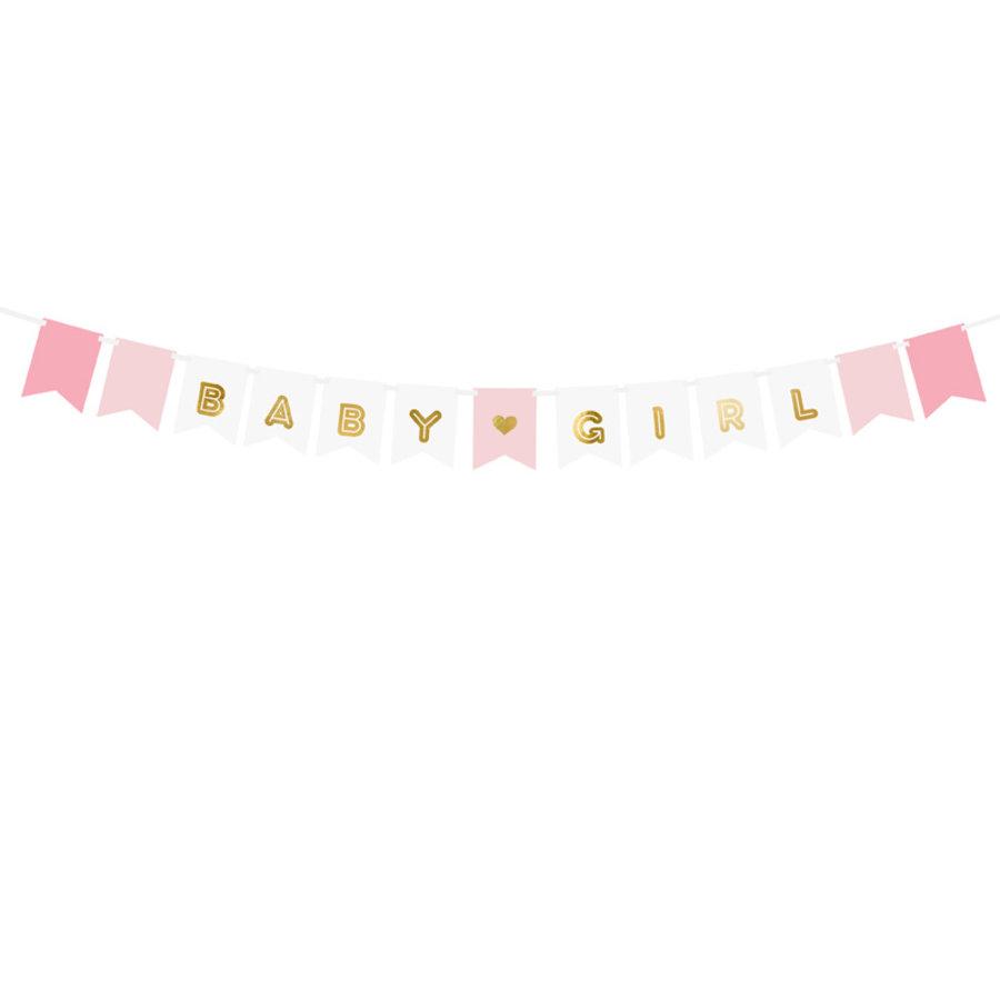 Guirlande baby girl rose-1