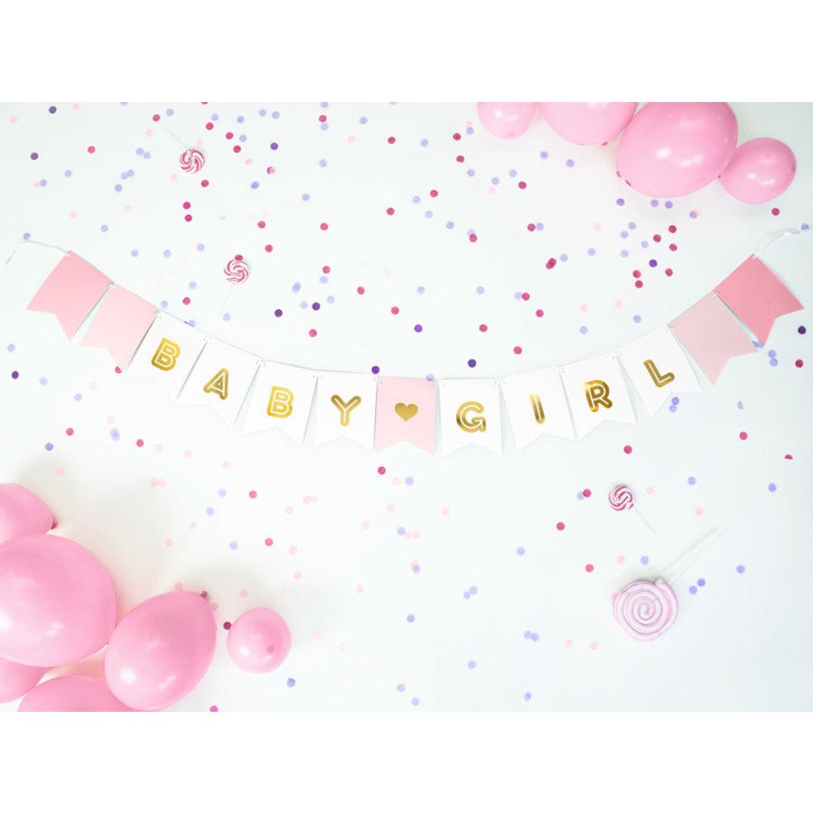 Guirlande baby girl rose-3