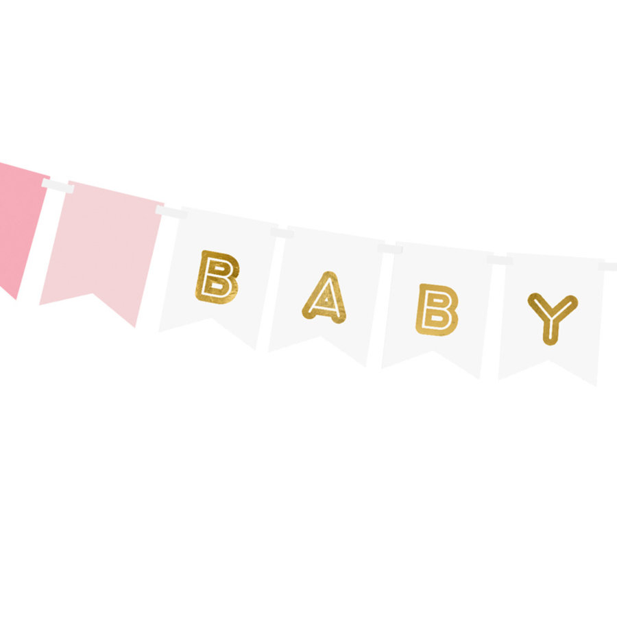 Guirlande baby girl rose-2